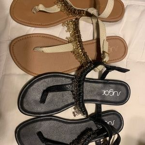 Set of beaded sandals